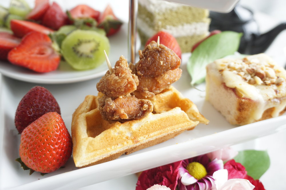 Chicken Waffle Skewers