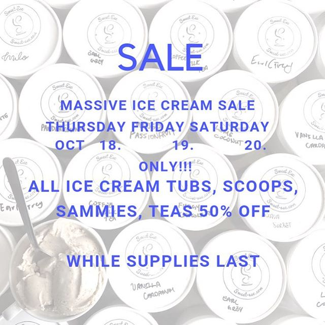 🚨 SALE ALERT 🚨  Hi friends!!! What's better than to snuggle up on a couch, Netflix and have ice cream by the tub?!? To clear out our ice creams we are having a MASSIVE sale for all!! You might want to be quick because our flavours are going fast!!! This is a cash sale only, we're not accepting card at all for the next 3 days ONLY so come quick to grab them!! 🏃🏻‍♀️ 🏃 🏃🏻‍♀️ 🏃