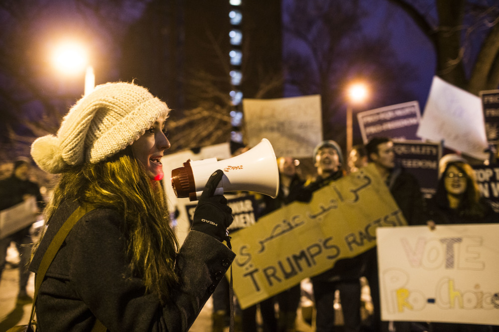 Local student oppose Donald Trump's rally in Iowa City