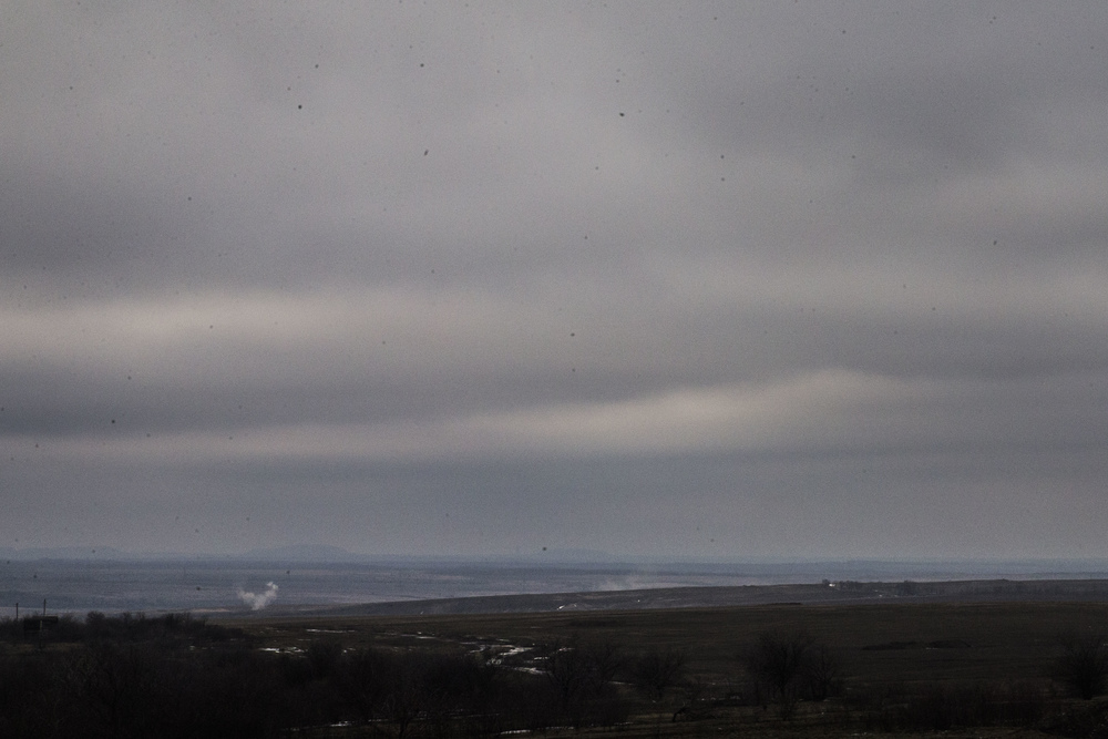 Debaltsevo area is seen shelled