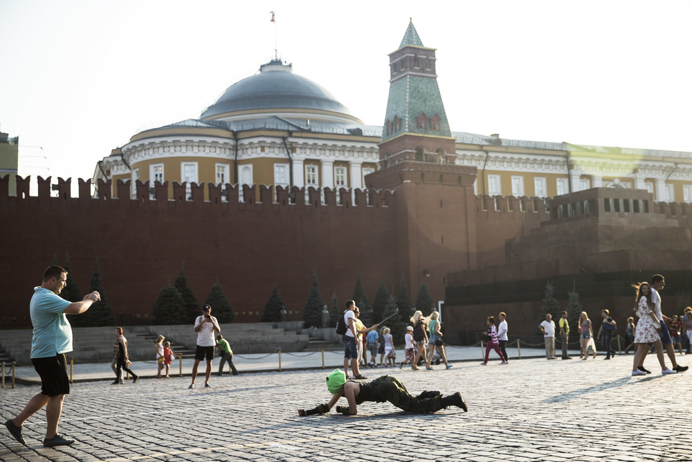 Pussy Riot member on Moscow's Red Square