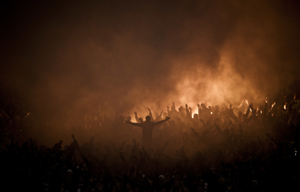 Spartak Moscow ultras, September 23, 2012