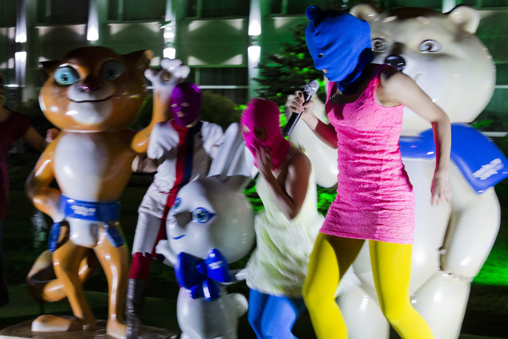 Pussy Riot perform in Sochi during Olympics. February 2014