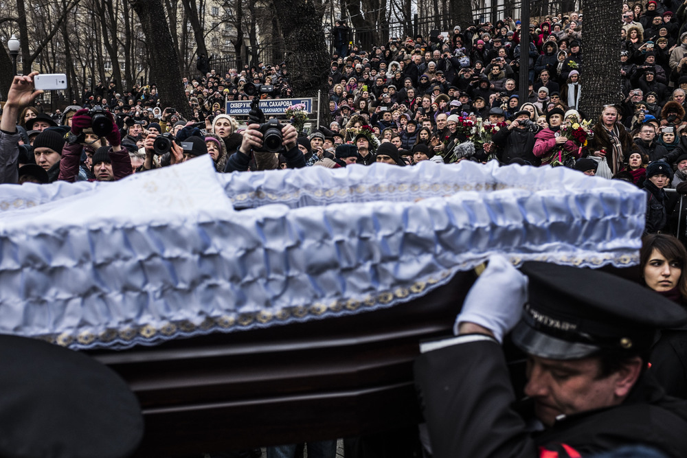 Boris Nemtsov's funerals. March 2015