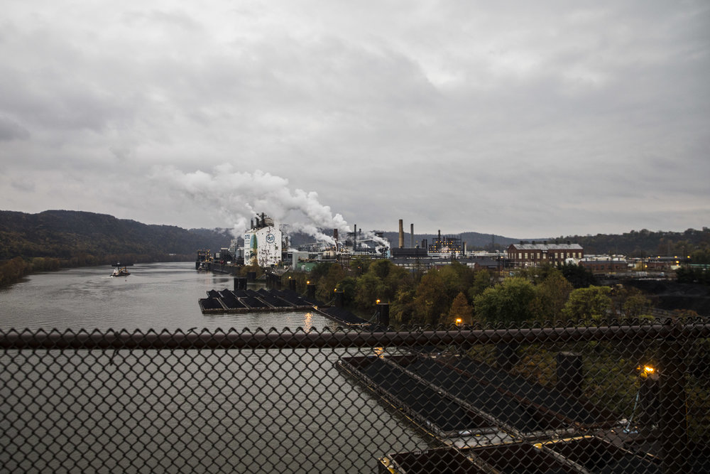 Clairton, Pennsylvania, is one of a few coal factories that are still operating in the surrounding area. Locals though feel depressed as they say the salaries are shrinking and more and more contracts are given to those affiliated with the factory's top management.