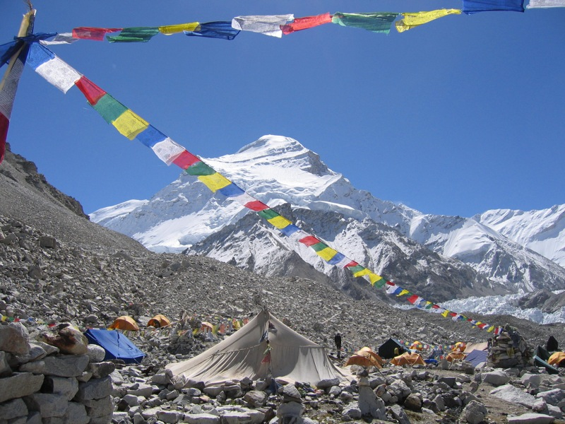 Cho Oyu, the Turquoise Goddess in Tibet,  photo courtesy of Wikimedia Commons.