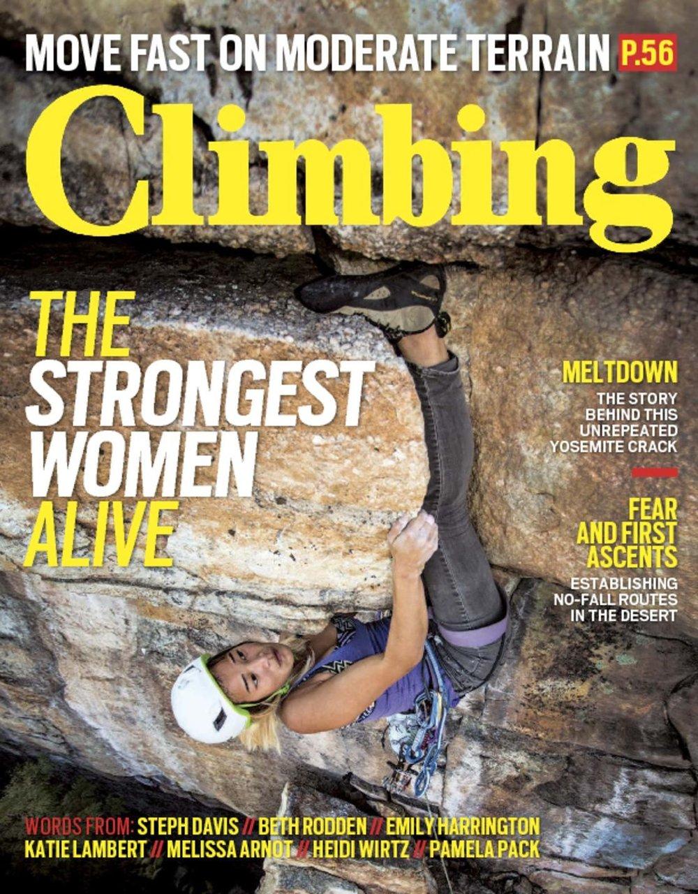 Climbing magazine -