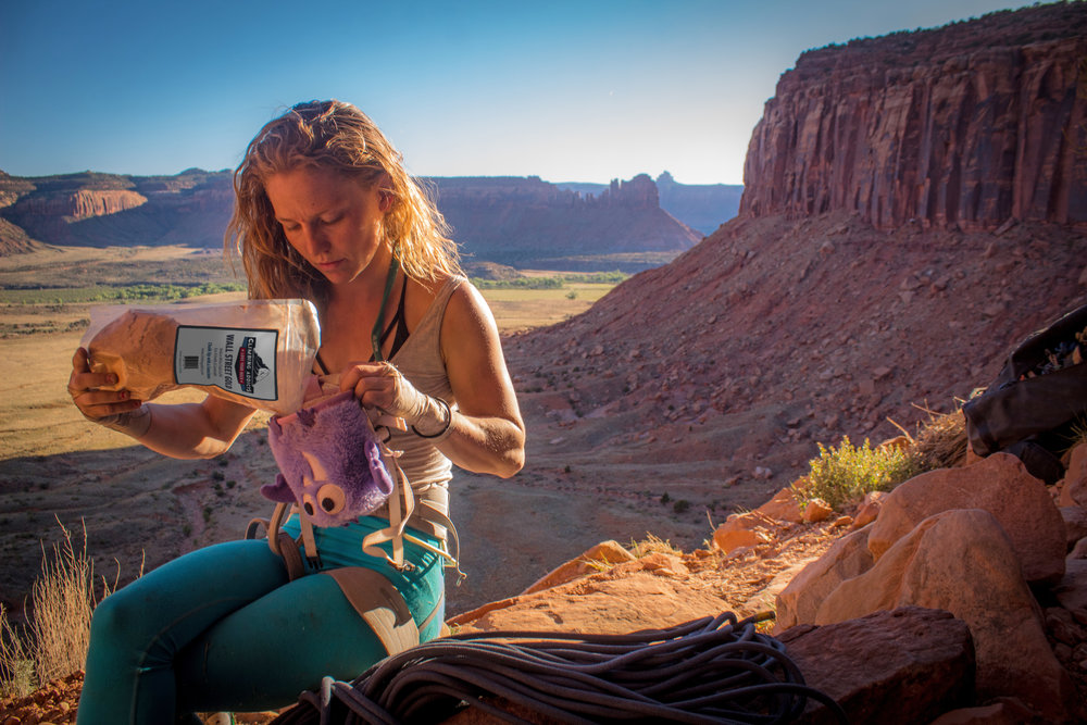 Climber's leave less behind with Boulder-based Climbing addicts chalk -