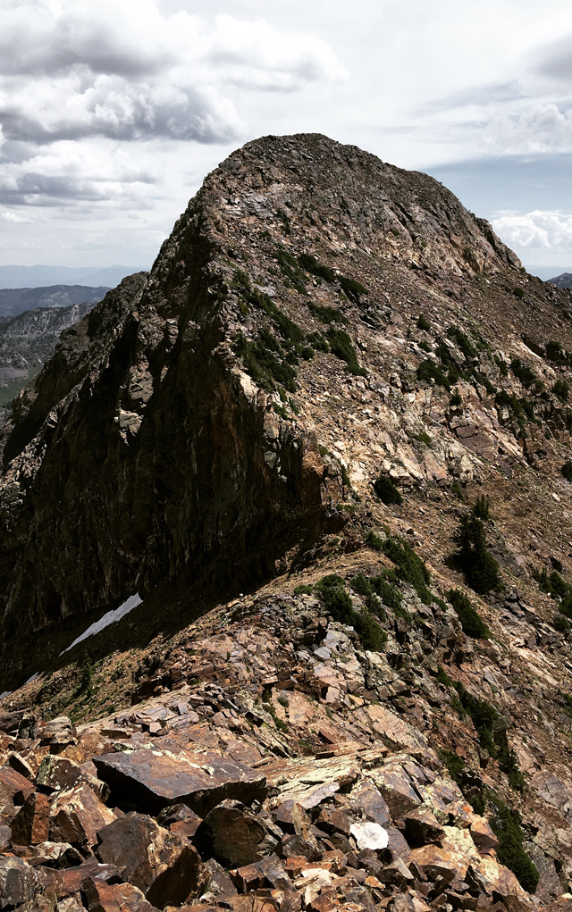 Where fear and anxiety collide - 36 miles of ridgeline, 18,000 feet of elevation gain and a band of black clouds