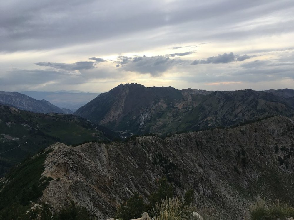 A slice of the never-ending ridgeline connecting at least 21 peaks in Utah's Wasatch Range.