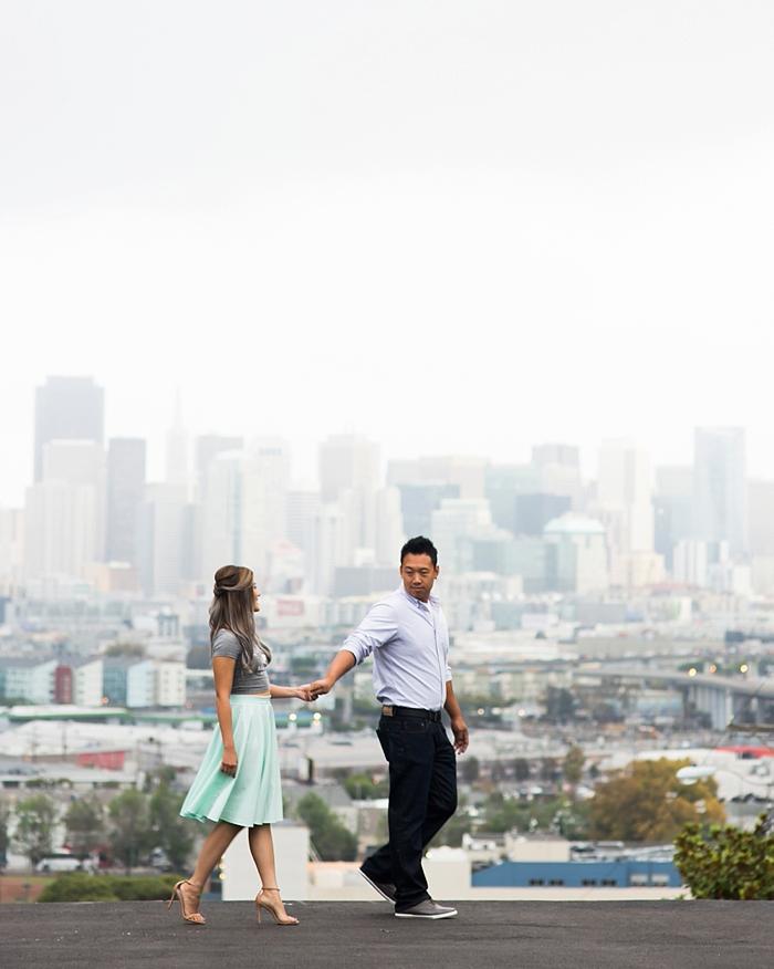 Potrero Hill San Francisco Engagement Photography | Lilouette
