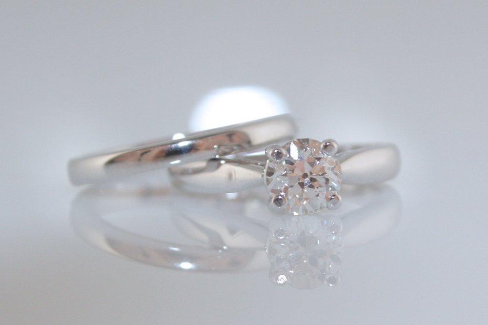 Classic Asscher diamond solitaire ring