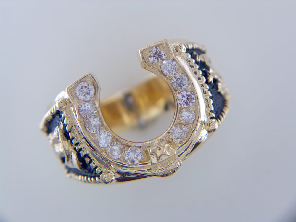 Men's diamond Horseshoe ring