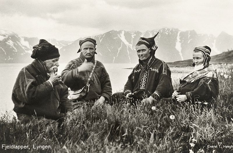 Where does the land end and these people begin? Saami family in Norway around 1900