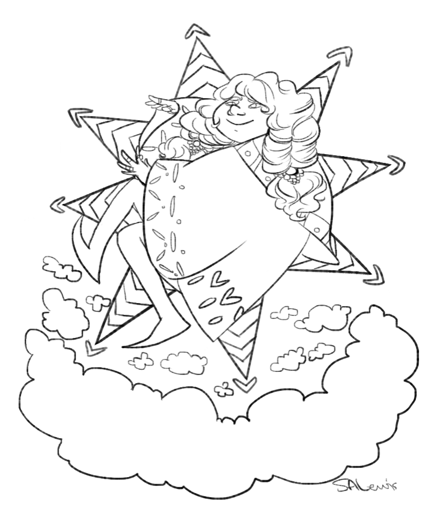 coloring page for a st jude's fundraiser
