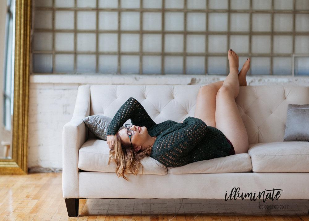 Minneapolis boudoir photography by Illuminate Boudoir