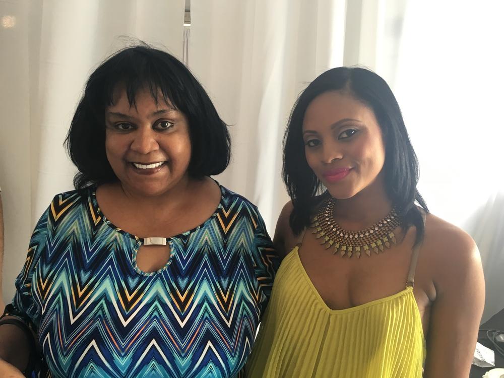 Host Maria Wills and Author Zane