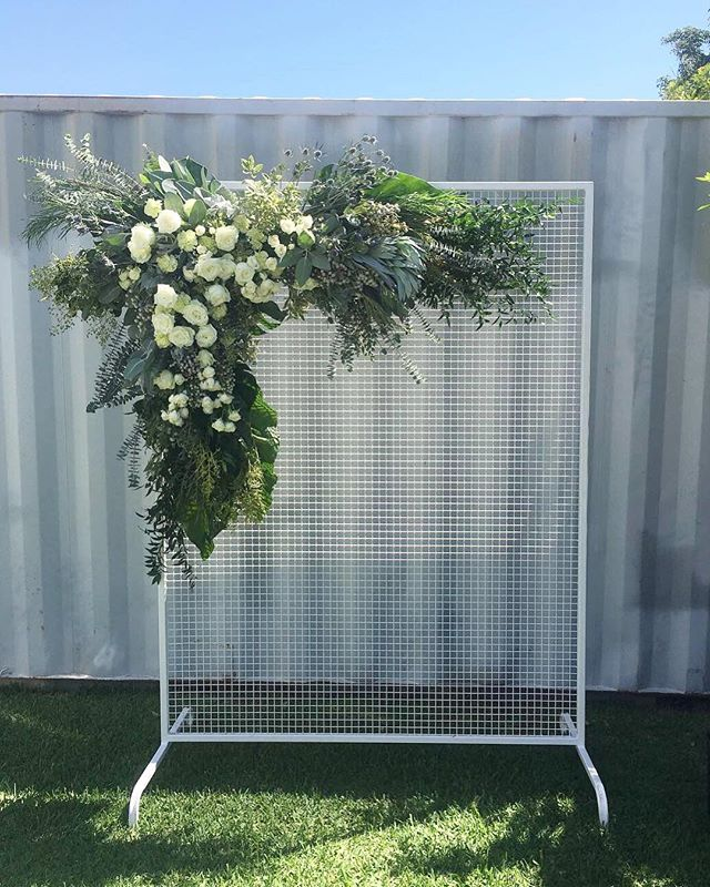 Statement arbour for Emily & Tyson yesterday at @stackwood_ 🌿🌿 #thewildstemweddings