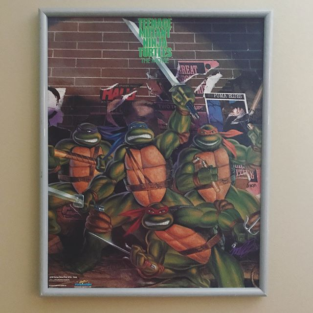 I have officially passed down my original TMNT poster to my baby boys. Yes, that is the original frame. #teenagemutantninjaturtles