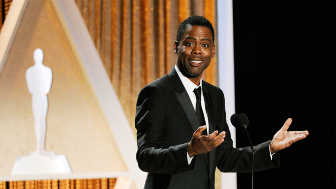 He's a great host! (courtesy AMPAS)