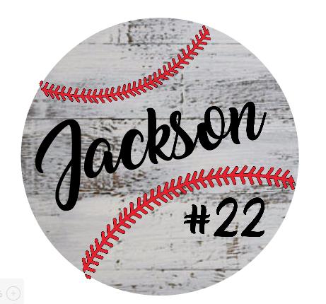 "T5: Baseball last name (14"" Round)"