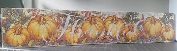 """Fall4:Pumpkin board (7"""" x 28"""")"""