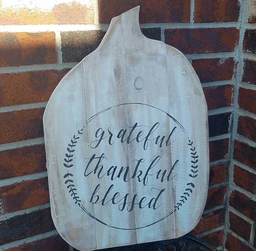 """Fall3: grateful thankful blessed (14"""" x 21"""")"""