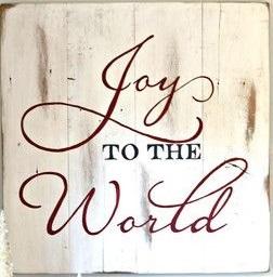 """Xmas10: Joy to the world (14"""" x 14"""")"""
