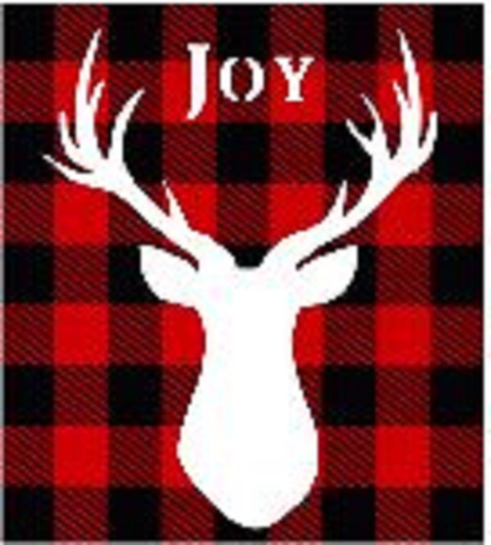 """Xmas4: Joy Deer head (14"""" x 21"""")"""