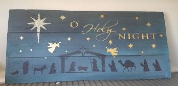 "Xmas 16: O' Holy Night (10"" x 21"")"