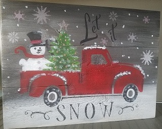 "Xmas 3: Snowman Pickup (10"" x 18"")"