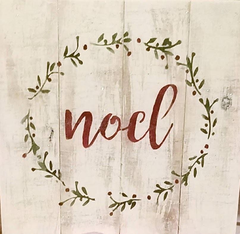 """Xmas6: Noel (14"""" x 14"""")"""