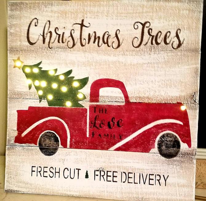 "L4: Christmas Tree Pickup (14"" x 14"")"