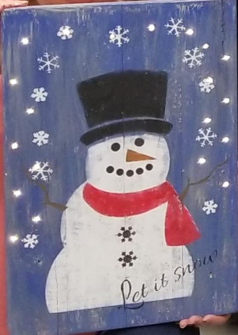 """L1: Snowman (14"""" x 21"""")"""