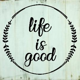 "X9: life is good (14"" x 14"")"