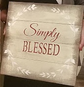 """X12: Simply Blessed (14"""" x 14"""")"""