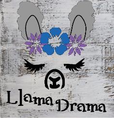 """teen1: Llama drama (10"""" x 10"""")"""