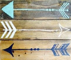 """teen7: arrows (10"""" x 10"""")"""