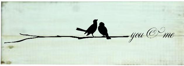 """Love4: Birds you & me (7"""" x 18"""")"""