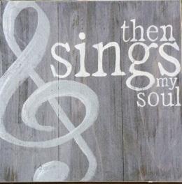"""X3: Then sings my soul (14"""" x 14"""")"""