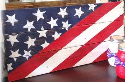 """July2: Flag (10"""" x 21"""")"""