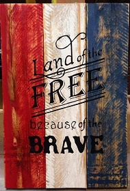 """July1: Land of the free (10"""" x 21:)"""