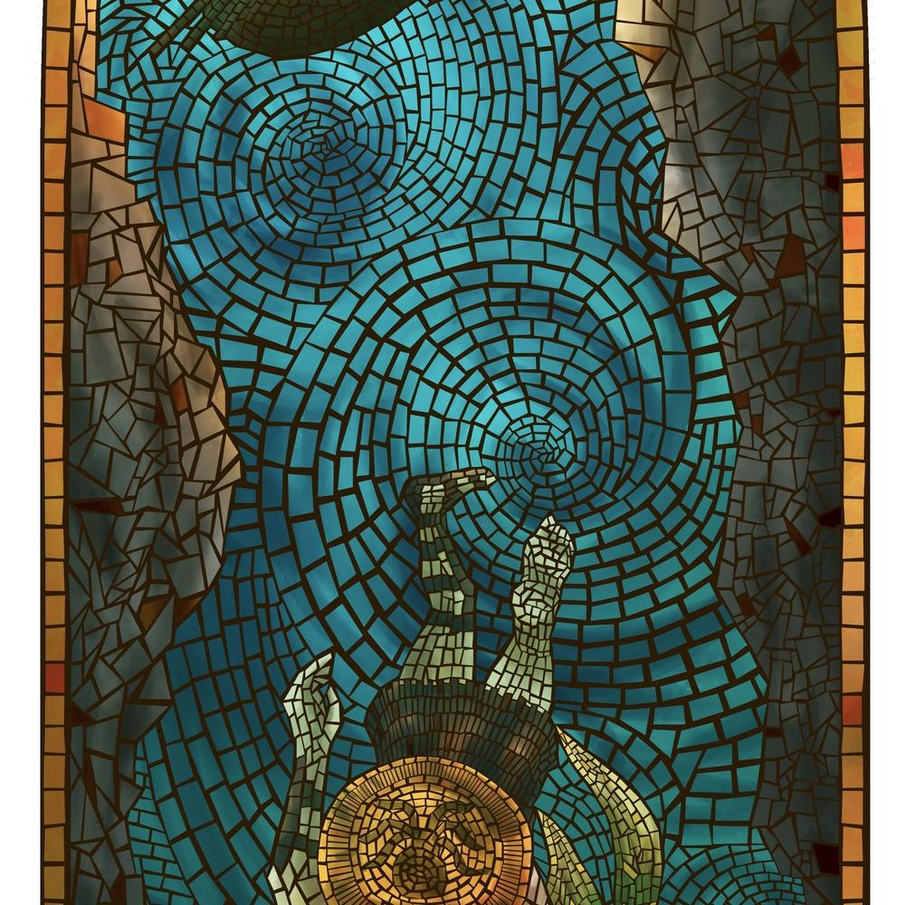 Siren Skateboard Mosaic