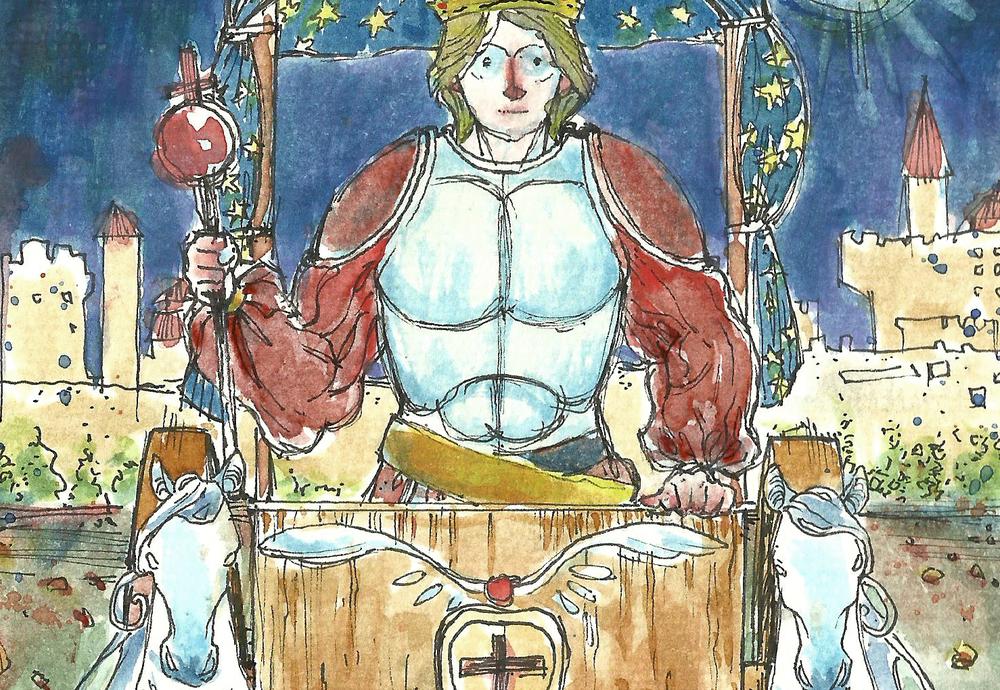 """Arcano """"O Carro""""—arte de Igum Djorge"""