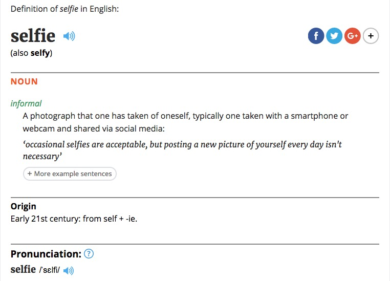 https://en.oxforddictionaries.com/definition/selfie