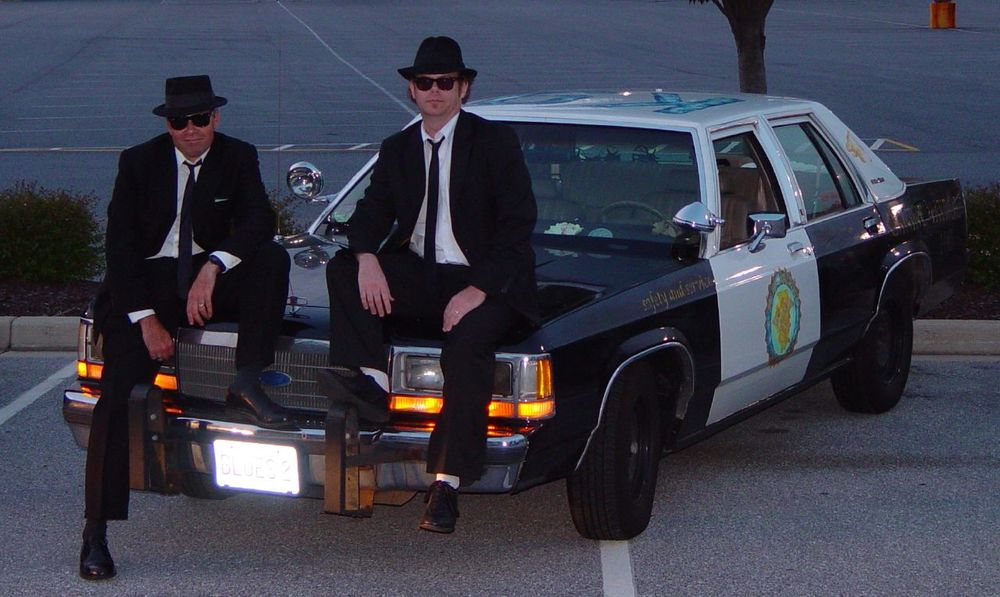 Yup, TWO Bluesmobiles....