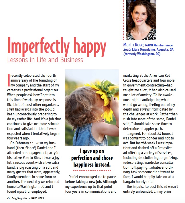 """Imperfectly Happy""   - NAPO News"