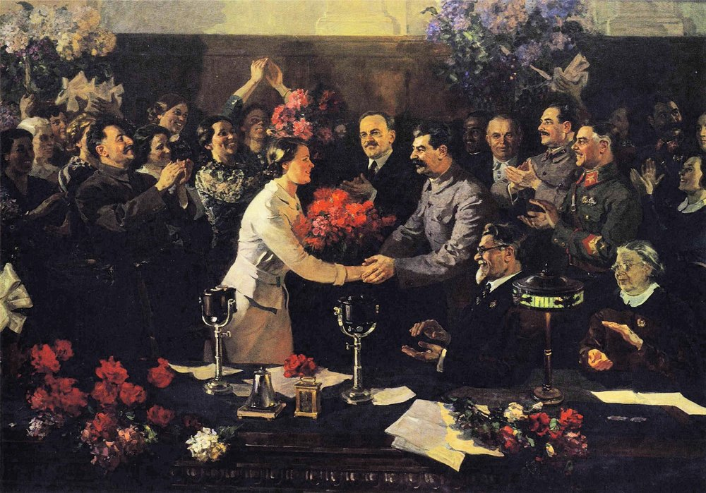 Vasili Efanov, An Unforgettable Meeting (1936).