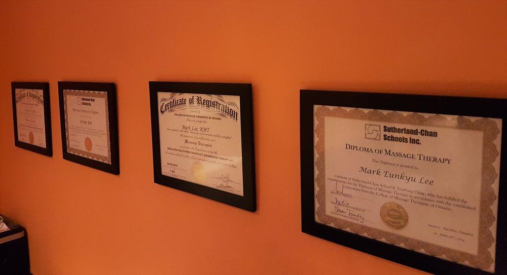 Massage Therapist's Diplomas