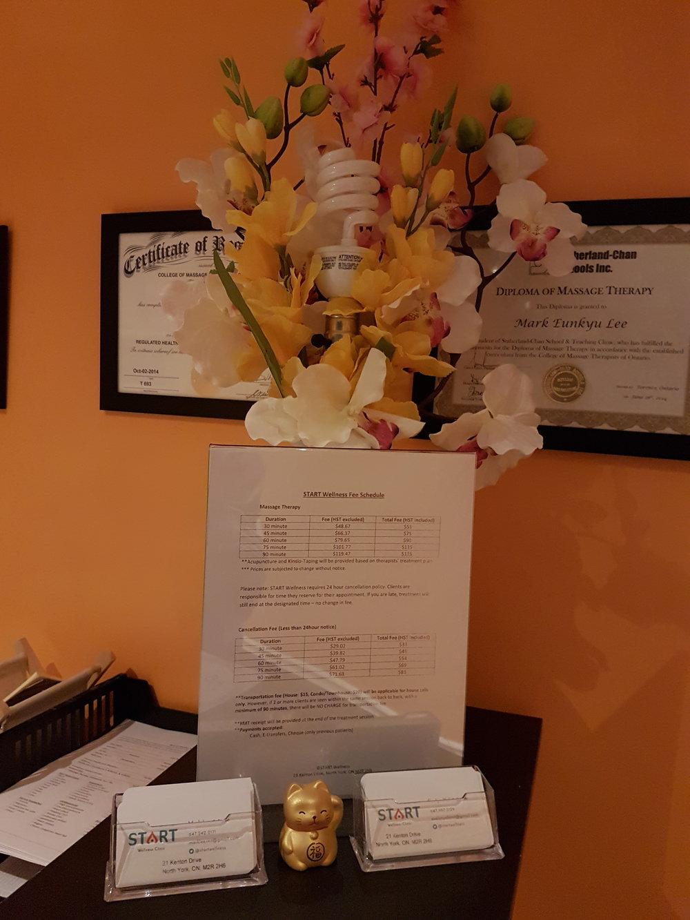 Front Desk decoration